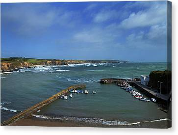 The Harbour In Winter, Boatstrand,the Canvas Print by Panoramic Images