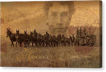 Canvas Print featuring the photograph The Harvest by Ron Crabb