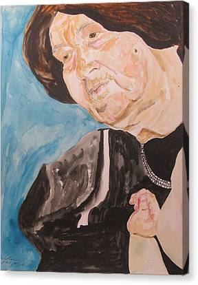 The Hassidic Grandmother Canvas Print by Esther Newman-Cohen