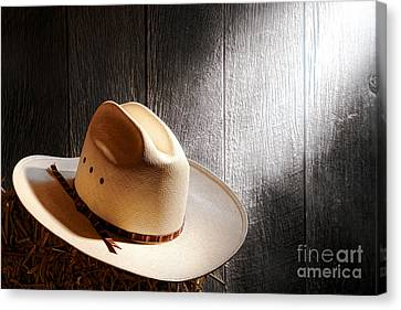 Bales Canvas Print - The Hat by Olivier Le Queinec