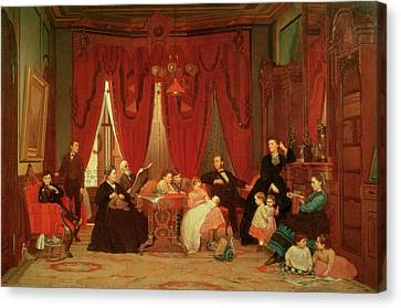 The Hatch Family Canvas Print by Eastman Johnson