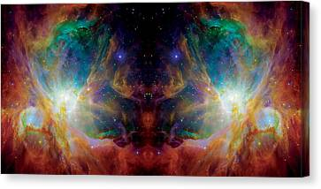 The Universe Canvas Print - The Hatchery Reflection - Orion Panorama  by Jennifer Rondinelli Reilly - Fine Art Photography
