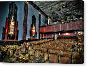 The Haunted Cole Theater Canvas Print by David Morefield