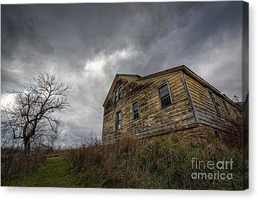 The Haunted Color Canvas Print by Michael Ver Sprill