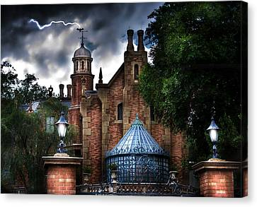 The Haunted Mansion Canvas Print by Mark Andrew Thomas