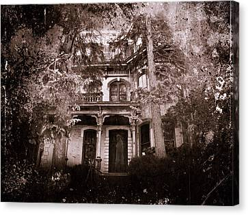 Canvas Print featuring the photograph The Haunting by David Dehner