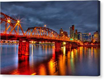 Canvas Print featuring the photograph The Hawthorne Bridge - Pdx by Thom Zehrfeld