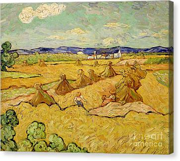 The Haystacks Canvas Print