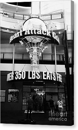 the heart attack grill restaurant freemont street downtown Las Vegas Nevada USA Canvas Print