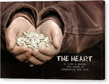 The Heart Canvas Print by Lori Deiter