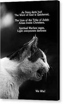 Canvas Print featuring the photograph The Heart Of A Lion by Lorna Rogers Photography