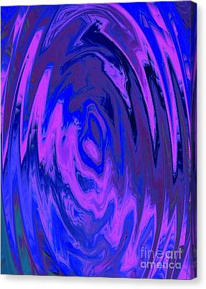 Canvas Print featuring the painting The Heart Of It by Catherine Lott