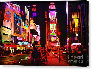 The Heart Of Manhattan Canvas Print by John Malone