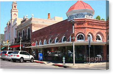 The Heart Of Sonoma California 5d24484 Long Canvas Print by Wingsdomain Art and Photography