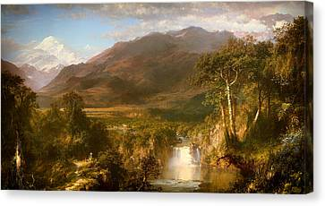 The Heart Of The Andes Canvas Print by Mountain Dreams