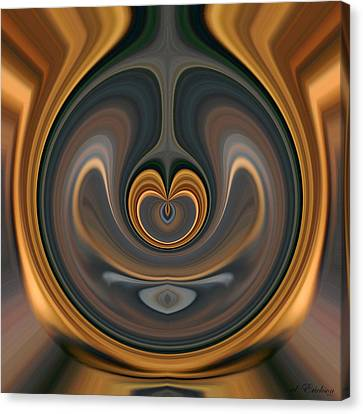 the Heart of Time Canvas Print by rd Erickson