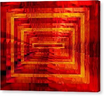The Heat Is On Op Art Canvas Print by Patricia E Sundik