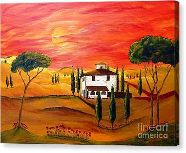 The Heat Of Tuscany Canvas Print by Christine Huwer
