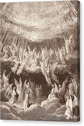 The Heavenly Choir, By Gustave DorÉ. Gustave Dore Canvas Print by Litz Collection