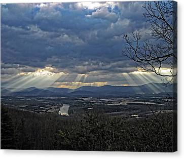 The Heavenly Valley Canvas Print by Lara Ellis