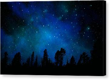 The Heavens Are Declaring Gods Glory Mural Canvas Print