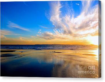 The Heaven's Declare His Glory Canvas Print by Margie Amberge