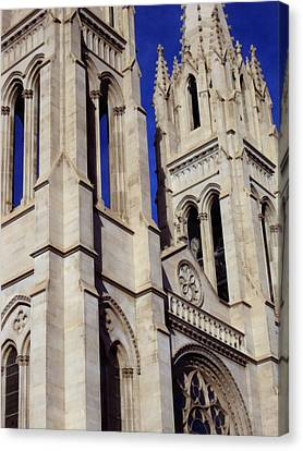 The Heights Of The Cathedral Basilica Of The Immaculate Conception Canvas Print by Angelina Vick