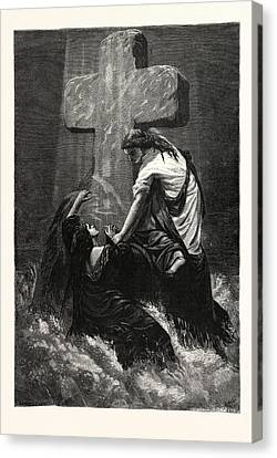 The Helping Hand. Religious Print Canvas Print by English School