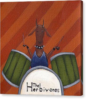 The Herbivores Canvas Print by Christy Beckwith