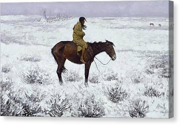 The Herd Boy Canvas Print by Frederic Remington