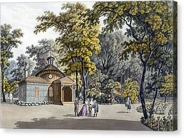 Hermitage Canvas Print - The Hermitage At The Garden by Laurenz Janscha