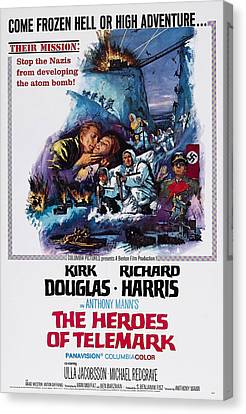 The Heroes Of Telemark, Us Poster Art Canvas Print by Everett