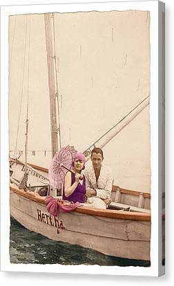 Canvas Print featuring the photograph The Hertha by Ron Crabb