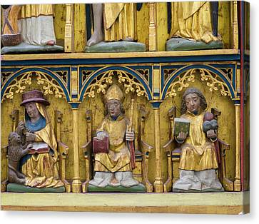 Gothic Germany Canvas Print - The High Altar In The Northern Aisle by Martin Zwick
