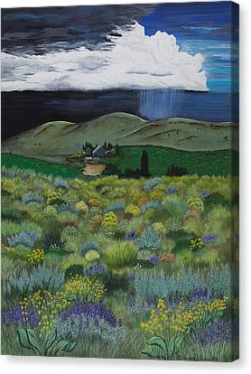The High Desert Storm Canvas Print