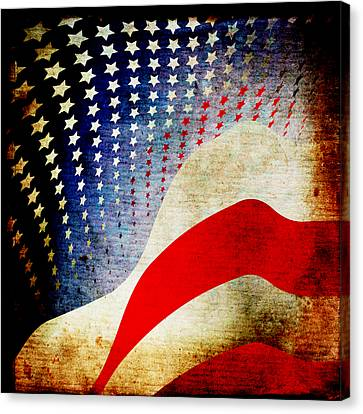 The High Flying Flag Canvas Print by Angelina Vick
