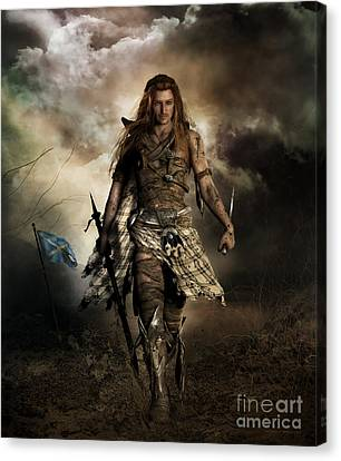 Armor Canvas Print - The Highlander by Shanina Conway