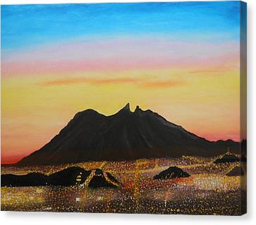 The Hill Of Saddle Monterrey Mexico Canvas Print by Jorge Cristopulos
