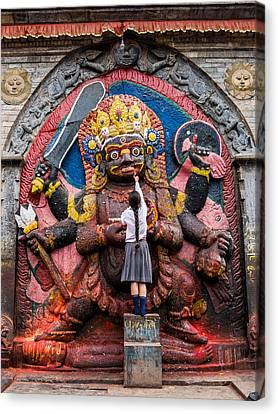 The Hindu God Shiva Canvas Print by Nila Newsom