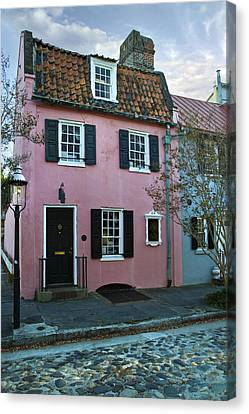 1690 Canvas Print - The Historic Pink House In Charleston 1690 by Pierre Leclerc Photography