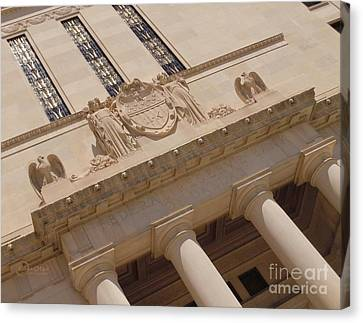 Canvas Print featuring the photograph The Historical Federal Reserve Bank Of Dallas by Robert ONeil