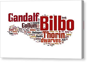 The Hobbit Canvas Print by Florian Rodarte