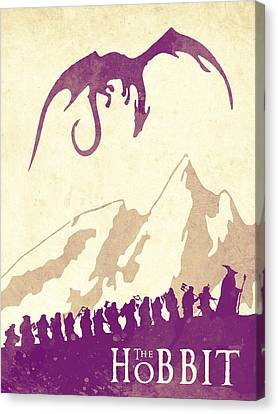 The Hobbit - Lord Of The Rings Poster. Watercolor Poster. Handmade Poster. Canvas Print by Lyubomir Kanelov