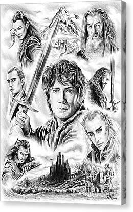 The Hobbit Middle Earth Canvas Print by Andrew Read