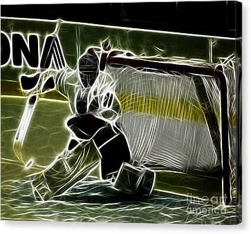 The Hockey Goalie Canvas Print by Bob Christopher