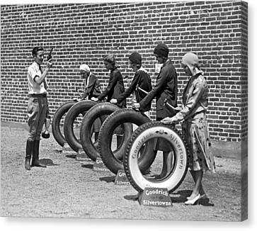 The Hollywood Nail Test For Goodrich Tires Canvas Print