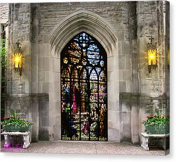The Holy Door Canvas Print by Michael Rucker