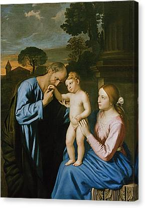 The Holy Family Canvas Print by Il Sassoferrato