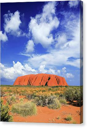 The Holy Mountain Of Uluru, Ayers Rock Canvas Print by Miva Stock