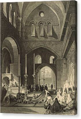 The Holy Sepulchre 1886 Engraving Canvas Print by Antique Engravings